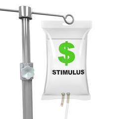 IV Bag Economic Stimulus Illustration