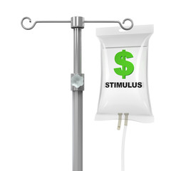 IV Bag Economic Stimulus Illustration