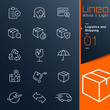 Lineo White & Light - Logistics and Shipping outline icons