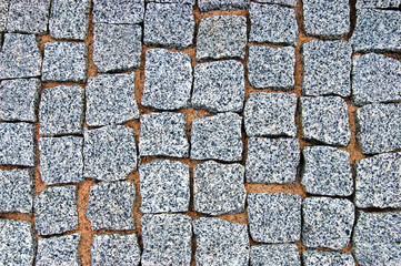 Granite Cobblestone Pavement Texture Background, Large Detailed