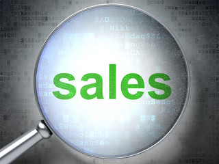 Marketing concept: Sales with optical glass