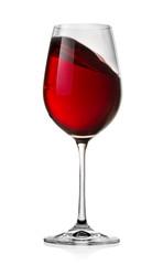 Waving red wine