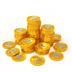 gold coins point