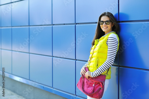 Stylish young girl portrait outdoors