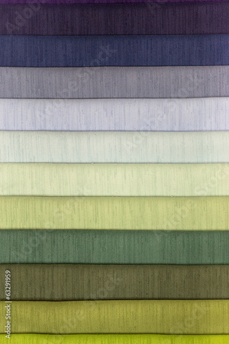 Color swatch of fabric textiles