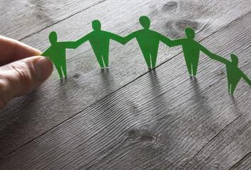 Menschenkette Konzept