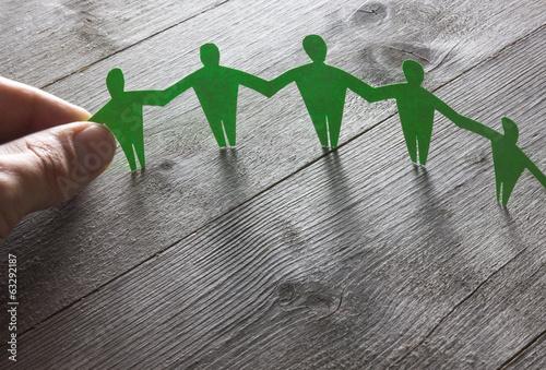 canvas print picture Menschenkette Konzept