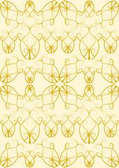 Hintergrund Flourish Muster in gold
