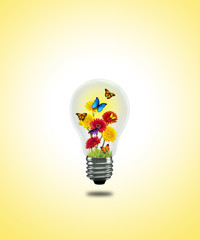 flower butterfly Lightbulb