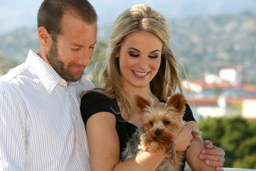 Couple and dog