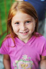 child smiles