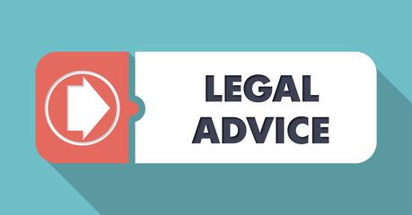 Legal Advice on Blue in Flat Design.