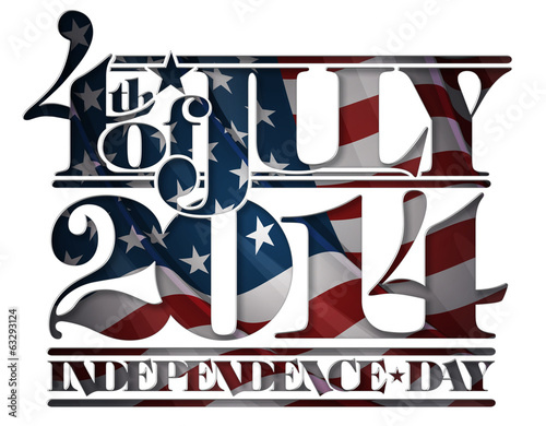 Forth of July 2014 Independence Day Cut-Out