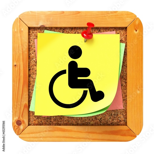 Disabled Concept - Sticker on Message Board.