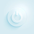 Abstract paper style power button vector icon. Switch off