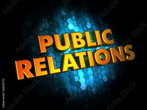 Public Relations Concept on Digital Background.