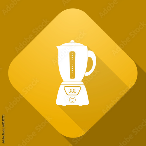 Vector icon of Blender with a long shadow