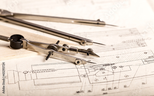 Engineering drawing and instruments
