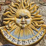 ceramic sundial meridian poster