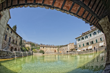 bagno vignoni old pool