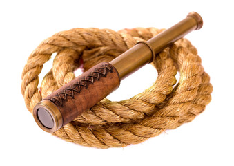 Telescope and rope isolated