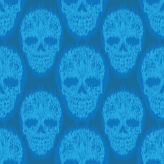 Blue File Skull Pattern
