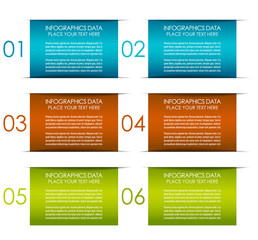Infographic six steps option banner