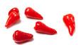 Piri-piri hot peppers on white background - 63294314