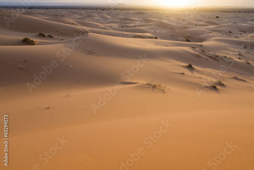 Sunrise on desert