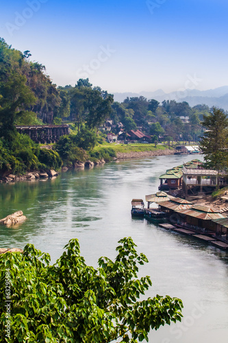 Landscape at the River Kwai, Kanchanaburi, Thailand.