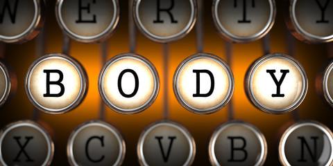 Body on Old Typewriter's Keys.