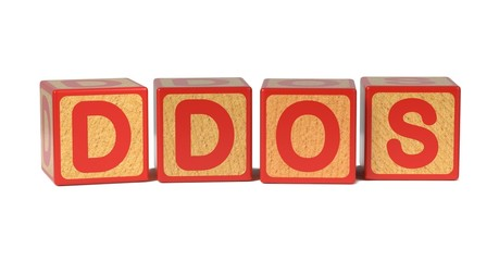 DDOS - Colored Childrens Alphabet Blocks.