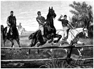Equestrian Sport : Riding, Jumping - end 19th century