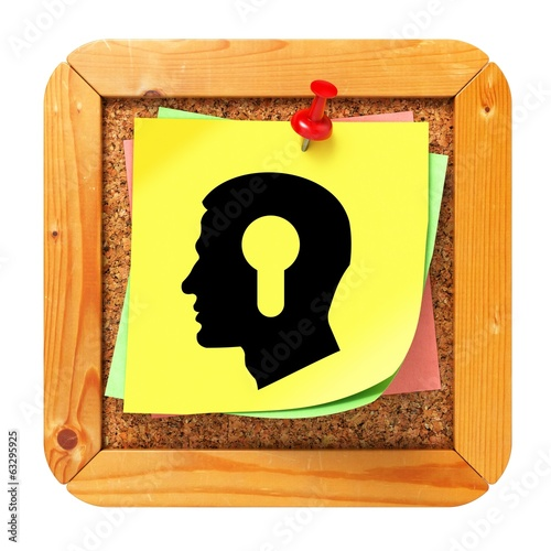 Psychological Concept - Sticker on Message Board.