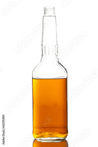 Alcoholic Whiskey Bourbon in a Bottle