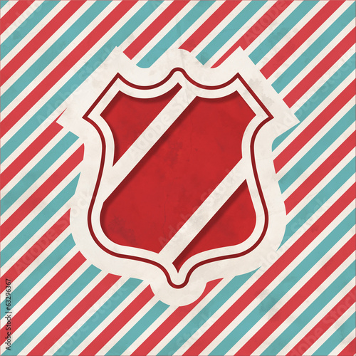 Security Concept on Retro Striped Background.