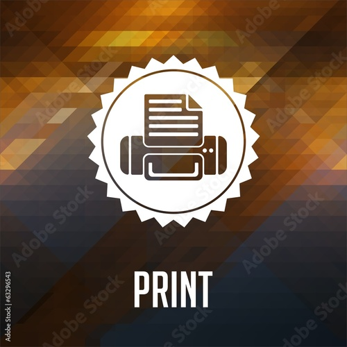 Print Concept on Triangle Background.