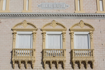 Facade of the Heredia Theater in Cartagena