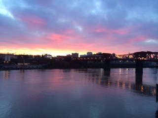 Sunrise in Portland OR