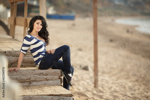 Beautiful woman outdoor portrait summer