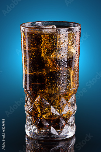 Cold cola in a glass