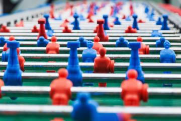 Spielfiguren beim Tischfußball