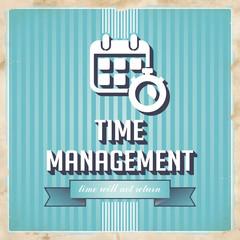 Time Management Concept in Flat Design.