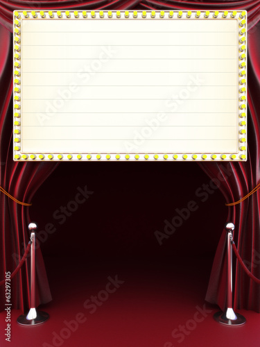 Papiers peints Opera, Theatre Marquee with curtains, red carpet. Room for text