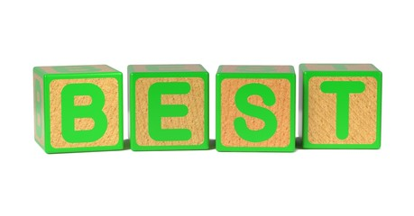 Best - Colored Childrens Alphabet Blocks.