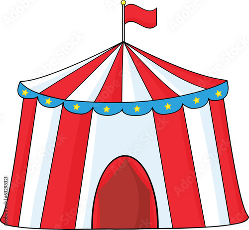 Big Circus Tent. Illustration Isolated on white