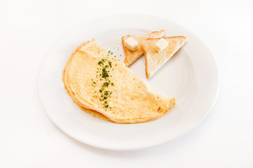 omelette with toast