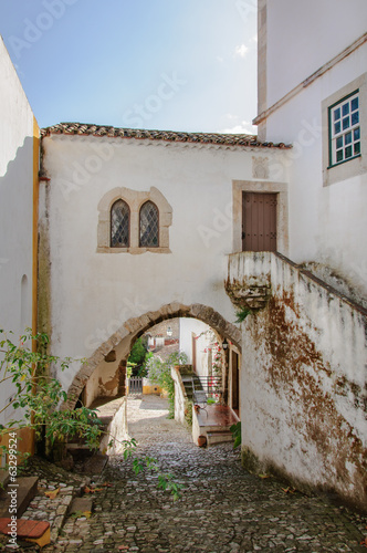 Traditional architecture in Medieval Portuguese Town of Obidos