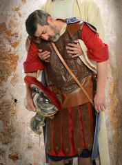 Jesus Holding Roman Soldier