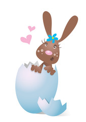 Hase,Häsin im Ei,Überraschungsei,Herz,frei,verliebt